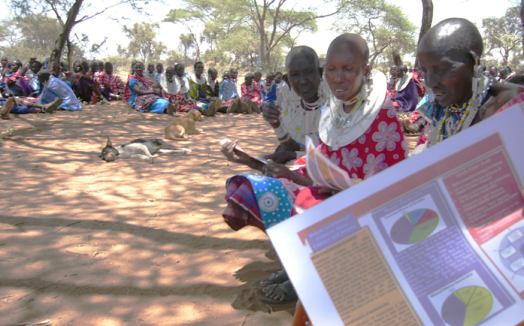 "Maasai ""mamas"" at a Light Years training session in Longido, Tanzania"